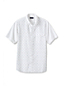Men's Short Sleeve Sail Rigger Dobby Block Oxford Shirt Slim Fit
