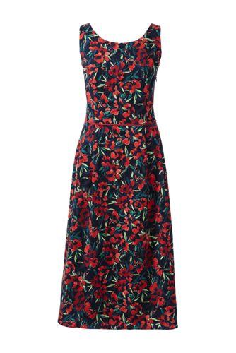 Women's Regular Pleated Scoop Back Patterned Dress