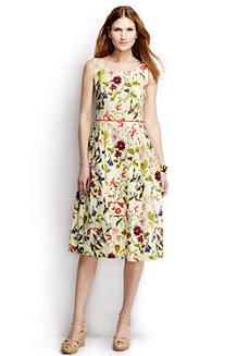 Women's Pleated Scoop Back Patterned Dress
