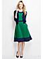 Women's Regular Ponte A-Line Colourblock Dress