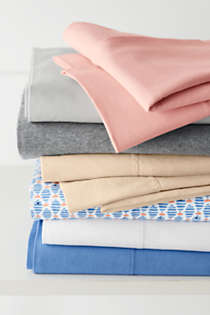 Cotton Jersey Knit Sheets, Top