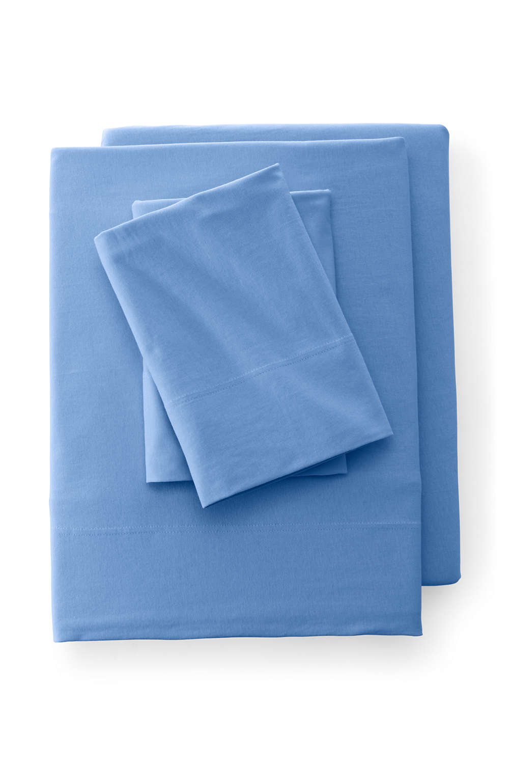 c757e608ba1 Cotton Knit Solid Sheets from Lands' End