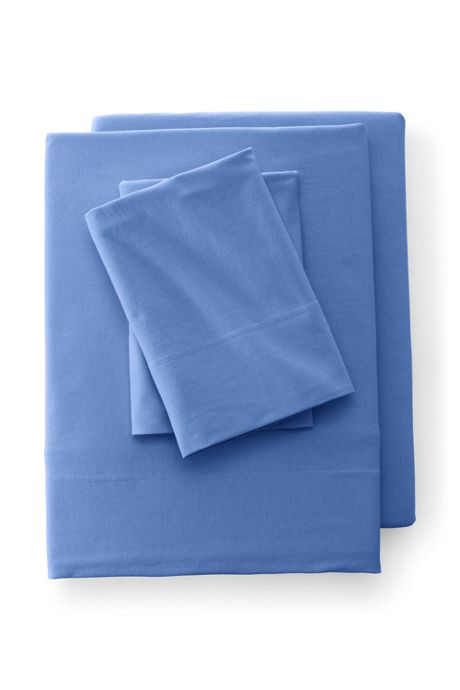 School Uniform Cotton Knit Solid Flat Sheets