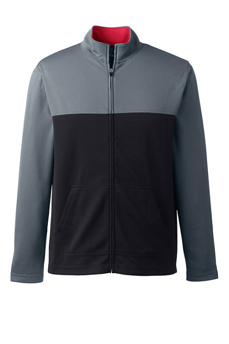 Lands End Mens Colorblock Zip Jacket