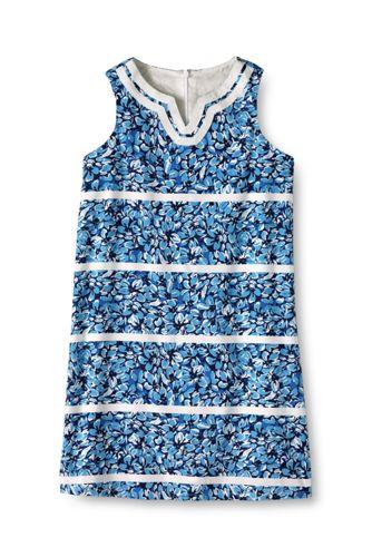 Little Girls' Embellished Woven Shift Dress