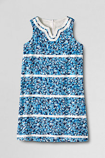 Girls' Embellished Woven Shift Dress