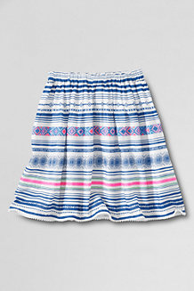 Girls' Woven Gathered Skirt