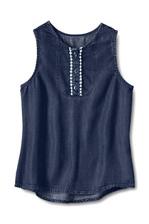 Girls' High-Low Sleeveless Top
