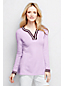 Women's Regular Tipped Fine Gauge Cotton Notched Neck Tunic