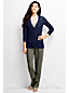 Women's Regular Linen/Cotton V-neck Pointelle Cardigan