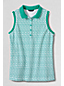 Women's Regular Classic Fit Sleeveless Piqué Print Polo