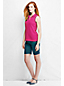 Women's Regular Classic Fit Sleeveless Piqué Tipped Polo