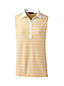 Women's Regular Sleeveless Stripe Woven Collar Polo