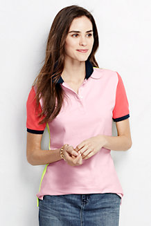 Women's Classic Fit Short Sleeve Colourblock Piqué Polo