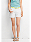 Women's Regular White Roll Cuff Shorts