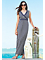 Women's Regular Sleeveless Print Maxi Wrap Dress
