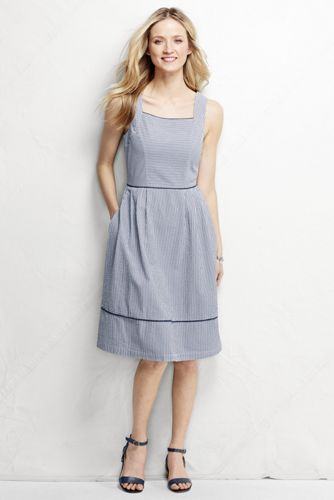 Women's Regular Seersucker Sundress