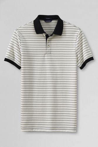 Men's Slim Fit Textured Stripe Supima Polo