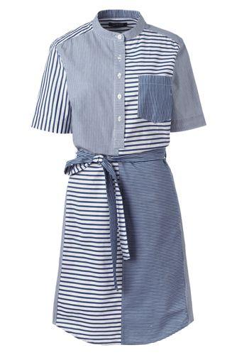 Women's Mixed Stripe Shirtdress
