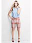 Le Short Chino Madras en Lin & coton Femme, Taille Standard
