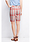 Women's Linen/Cotton Plaid Chino Shorts