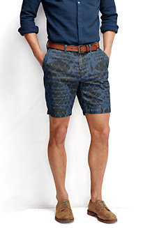 Men's Lighthouse Print Chambray Shorts