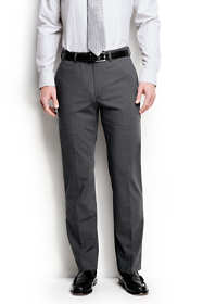 Men's Long Washable Wool Plain Trousers