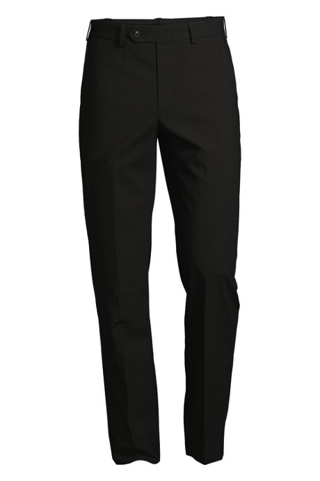 Men's Traditional Plain Front Trousers