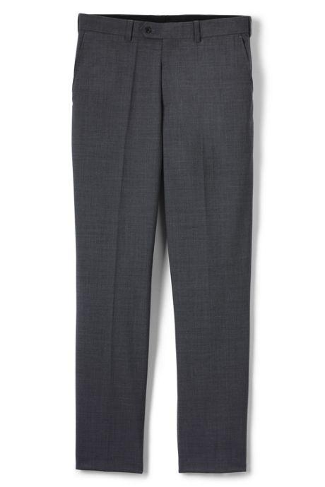 Men's Traditional Plain Front Trousers