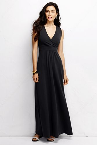 Women's Regular Sleeveless Maxi Wrap Dress