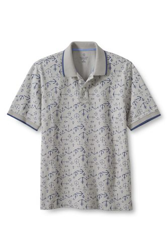 Men's Regular Print Piqué Polo