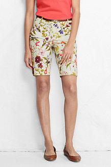 Women's Printed Bermuda Chino Shorts