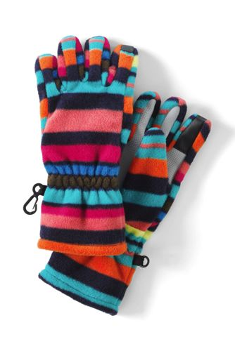 Girls' Patterned ThermaCheck-200 Fleece Gloves