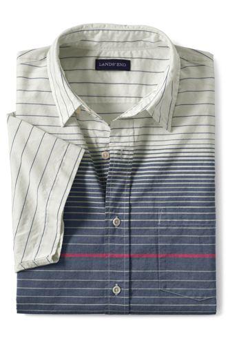 Gestreiftes Kurzarm-Hemd, Classic Fit