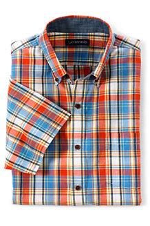 Men's Short Sleeve Madras Shirt