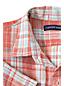 Kurzarm-Leinenhemd mit Madrasmuster, Classic Fit