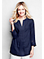 Women's Regular Bracelet Sleeve Linen Popover Tunic