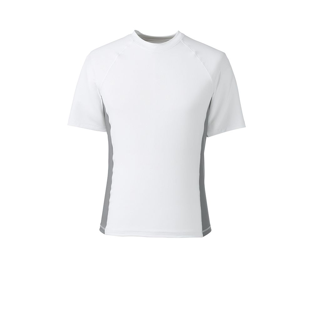 Lands' End Men's Short Sleeve White Swim Tee at Sears.com