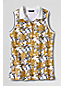 Women's Regular Sleeveless Piqué Print Tipped Polo