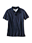 Women's Regular Classic Fit Short Sleeve Printed Pima Polo