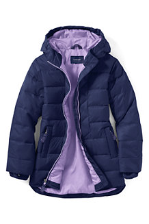 Girls' Plain Down Parka