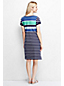 Women's Short Sleeve Stripe Piqué Boatneck Dress