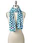 Gemusterter Fleece-Schal für Damen