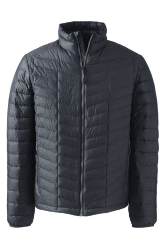 Men's Regular Heathered Lightweight Down Jacket