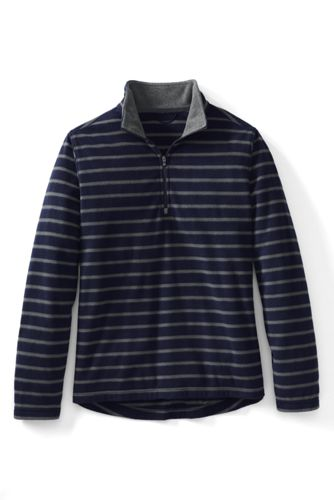 Men's Regular Patterned ThermaCheck®-100 Fleece Half-zip Pullover