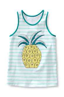 Girls' Embellished Graphic Racerback Knit Vest Top