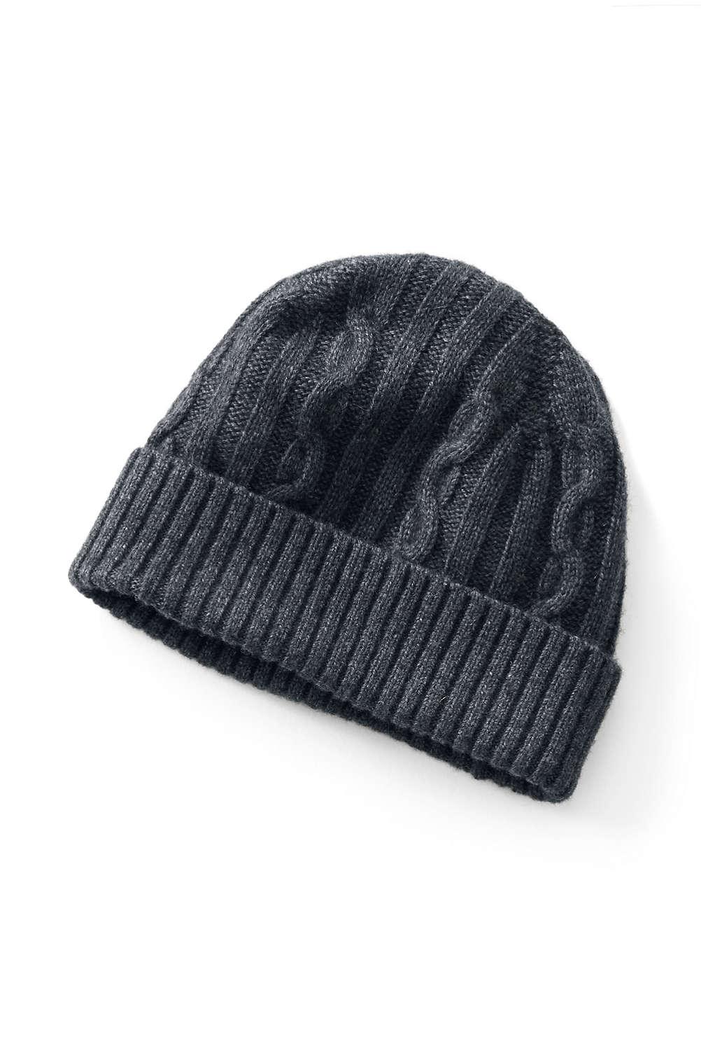 590a0c4e0584d Men s Knit Wool Cashmere Hat from Lands  End