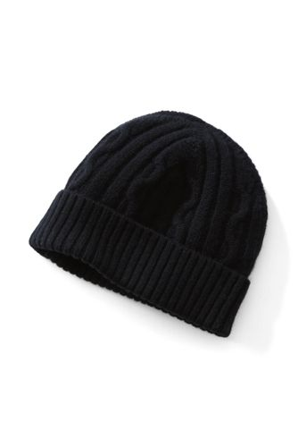 Men's Cashmere/Wool Cable Knit Hat
