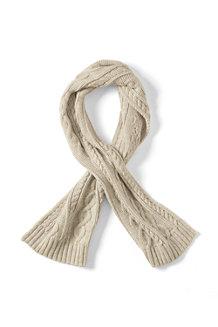 Flauschiger Zopfmuster-Schal für Kinder