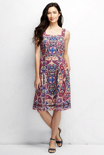 Women's Pattern Linen Sun Dress